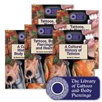 The Library of Tattoos and Body Piercings Series - 5 Hardcover Books