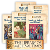 The Library of Medieval Times - 5 Hardcover Books